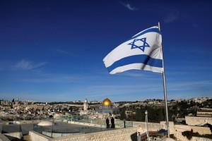Bandiera Israele a Gerusalemme