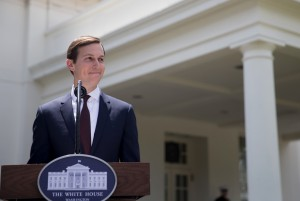 Jared Kushner makes a statement at the White House