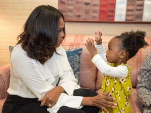 Michelle Obama e Parker