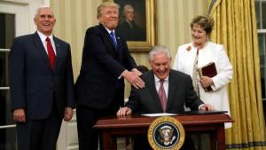 Tillerson e Trump