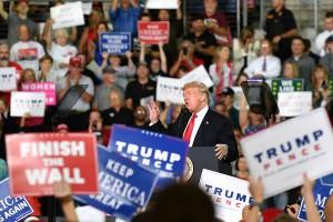 Usa, Donald Trump in campagna elettorale in Pennsylvania