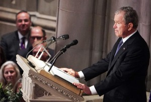 Washington, i funerali di George Bush senior alla National cathedral