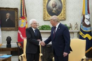 Il Presidente Mattarella negli Usa da Trump alla Casa Bianca