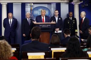 Trump e l'emergenza coronavirus