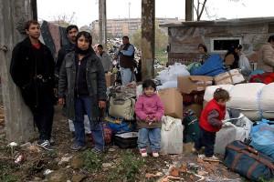 Sgomberata baraccopoli di rom romeni