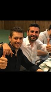 Andrea Fumagalli e il consigliere regionale lombardo Jari Colla