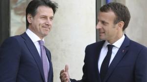Giuseppe Conte Emmanuel Macron