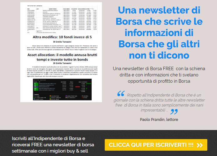Indipendente di Borsa: newsletter con più di 110.000 lettori