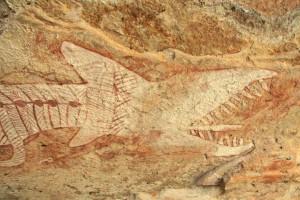 Il Rainbow Serpent dipinto 1.500 anni fa