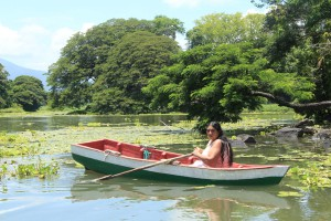 In canoa sul Lago Cocibloca tra  Las Isletas
