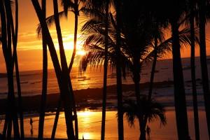 GLI spettacolari tramonti di Tamarindo sull'Oceano Pacifico. Foto di Elena Pizzetti