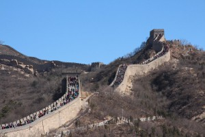 La Grande Muraglia costruita a partire dal 215 a.C. circa per volere dell'imperatore Qin Shi Huang. Credit: Elena Pizzetti