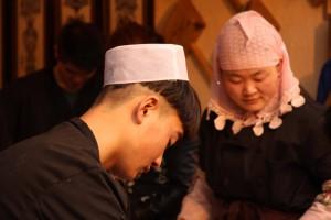 Volti nel quartiere islamico di Xi'an popolato dalla comunità uhi . Credit: Elena Pizzetti