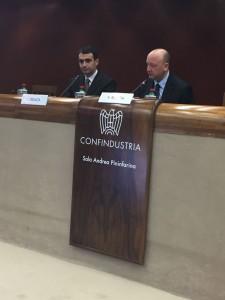 Da destra - Vincenzo Boccia, Presidente Confindustria, e Luca Desiata, AD Sogin
